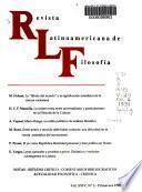 Revista latinoamericana de filosofía