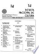 Revista nacional de cultura