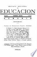 Revista nacional de educación. Febrero-Marzo 1943