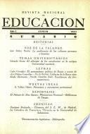 Revista nacional de educación. Junio 1941