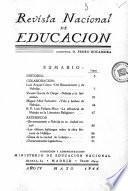 Revista nacional de educación. Mayo 1944