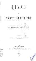 Rimas de Bartolomé Mitre con un prefacio del autor