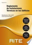 RITE. Reglamento de Instalaciones Térmicas en los Edificios.