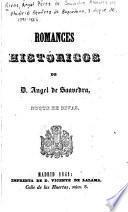 Romances históricos de D. Angel de Saavedra