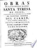 Santa Obras de la Gloriosa madre Santa Teresa de Jesus, 2
