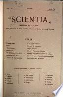Scientia, rivista di scienza