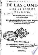 Segunda parte de las comedias de Lope de Vega Carpio...
