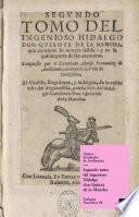 Segundo tomo del Ingenioso Hidalgo don Quijote de la Mancha
