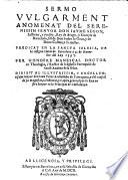 Sermo vulgarment anomenat del Serenissim Senyor Don Jaume Segon, ... Rey de Arago etc