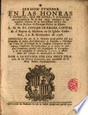 Sermón fúnebre en las honras de Da María Bárbara de Portugal, Reyna de España dixolo en la Cat. de Mallorca a 6 de Nov. de 1758 el P. Pedro Navarro, S. J. ...