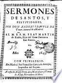 SERMONES DE SANTOS, Y FESTIVIDADES