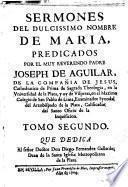 Sermones del dulcísimo nombre de María