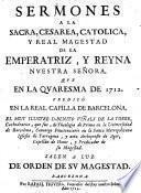 Sermones ... en la quaresma de 1712