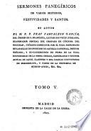 Sermones panegíricos de varios misterios, festividades y santos, 5