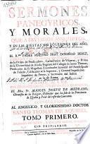 Sermones panegyricos, y morales,