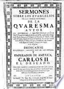 Sermones sobre los evangelios de las ferias mayores de la cuaresma