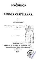 Sinónimos de la lengua castellana