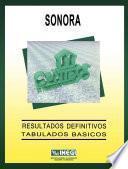Sonora. Conteo de Población y Vivienda, 1995. Resultados definitivos. Tabulados básicos