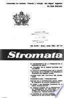 Stromata; ciencia y fe