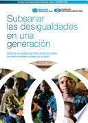 Subsanar Las Desigualdades En Una Generacin