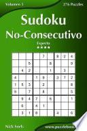 Sudoku No-Consecutivo - Experto - Volumen 5 - 276 Puzzles