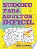 Sudokus Para Adultos Dificil