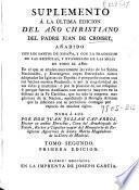 Suplemento á la última edicion del Año christiano