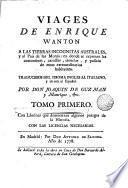 Suplemento, o sea Tomo tercero [-- quarto y ultimo] de los viages de Enrique Wanton a el pais de las monas