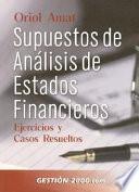 Supuestos de análisis de estados financieros
