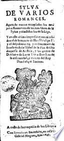 Sylva de varios romances