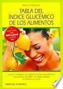 Tabla del índice glucémico de los alimentos