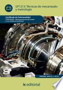 Técnicas de mecanizado y metrología. TMVG0409