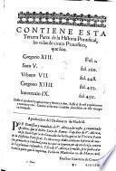 Tercera parte de la Historia pontifical y catolica