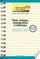 Tesis, tesinas, monografías e informes