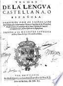 Tesoro de la Lengua Castellana o Española