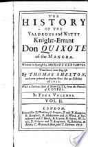 The History of the Valorous and Witty Knight-errant Don Quixote of the Mancha,2