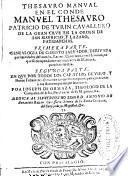 Thesauro manual en el Conde Manuel Thesauro ...
