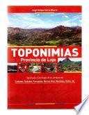 Toponimias de la provincia de Loja