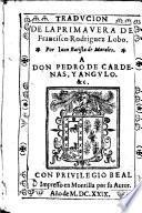 Traducion de la primavera, por Juan Batista de Morales