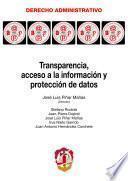 Transparencia, acceso a la información y protección de datos