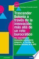 Trascender Bolonia a través de la innovación: más allá de un reto burocrático