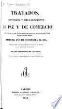 Tratados, convenios y declaraciones de paz y de comercio
