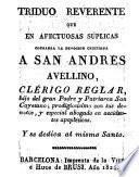 Triduo reverente que en afectuosas súplicas consagra la devoción cristiana a San Andrés Avellino