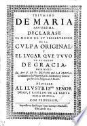 Triunfo de María Sma