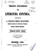 Trozos escojidos de literatura española