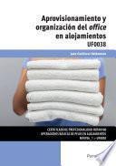 UF0038 - Aprovisionamiento y organización del office en alojamientos