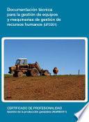 UF0381 - Documentación técnica para la gestión de equipos y maquinarias de gestión de recusos humanos