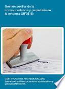 UF0518 - Gestión auxiliar de la correspondencia y paquetería en la empresa