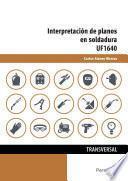 UF1640 - Interpretación de planos en soldadura