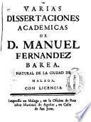 Varias dissertaciones academicas